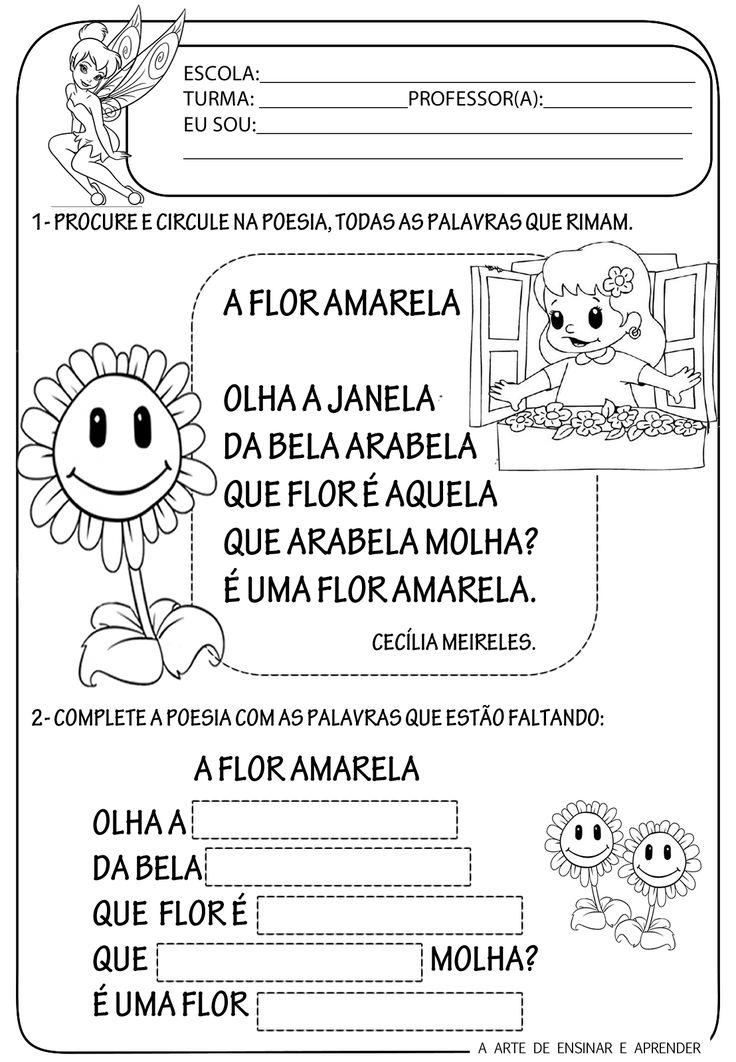 Atividades sobre poemas para crian as em sala de aula - Rima con porta ...