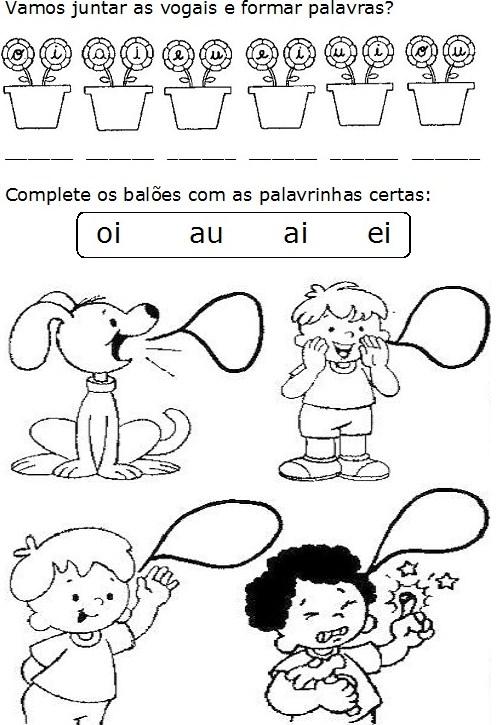 Atividades sobre encontro vocálico