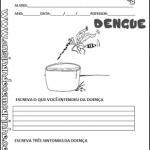 Produção de texto sobre a dengue em sala de aula