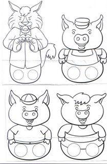 Moldes dos três porquinhos para imprimir