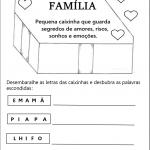 Atividades sobre a família em sala de aula