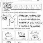 Atividades com a letra M em sala de aula