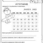 Atividades para trabalhar o calendário em sala de aula